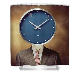Clockhead Shower Curtain
