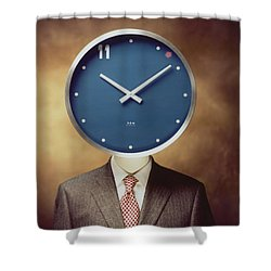 Clockhead Shower Curtain