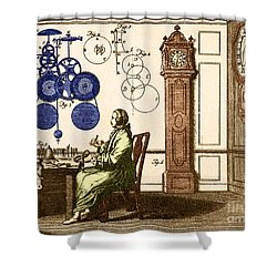 Clockmaker Shower Curtain by Photo Researchers