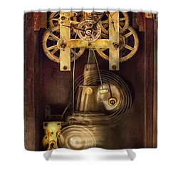 Clockmaker - The Mechanism  Shower Curtain by Mike Savad
