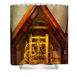 Clocksmith - Clockwork  Shower Curtain by Mike Savad