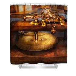 Clocksmith - The Gear Cutting Machine  Shower Curtain by Mike Savad