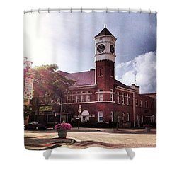 Clocktower Sunshine Shower Curtain