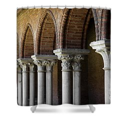 Shower Curtain featuring the photograph Cloister, Couvent Des Jacobins by Elena Elisseeva