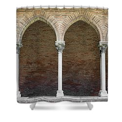 Shower Curtain featuring the photograph Cloister With Arched Colonnade by Elena Elisseeva