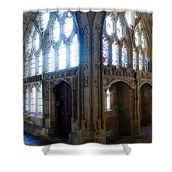Shower Curtain featuring the photograph Cloisters, Gloucester Cathedral by Colin Rayner