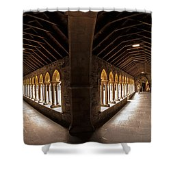 Cloisters On Isle Of Iona Shower Curtain