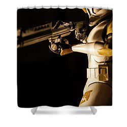 Shower Curtain featuring the photograph Clone Trooper 6  by Micah May