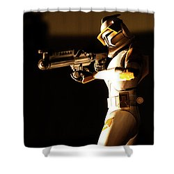 Shower Curtain featuring the photograph Clone Trooper 7 by Micah May