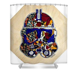 Clone Trooper Star Wars Afrofuturist Shower Curtain by Apanaki Temitayo M