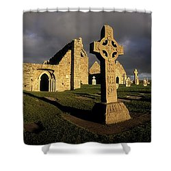 Clonmacnoise Monastery, Co Offaly Shower Curtain by The Irish Image Collection