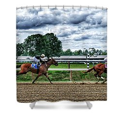 Close Competition Shower Curtain