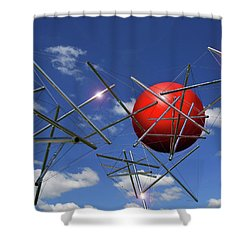 Shower Curtain featuring the photograph Close Encounters by Christopher McKenzie