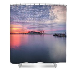 Close Of The Evening Shower Curtain