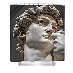 Close Up Of David By Michelangelo Shower Curtain