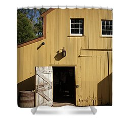 Close Up Of Landis Valley Yellow Barn Shower Curtain