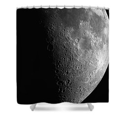 Close-up Of Moon Shower Curtain