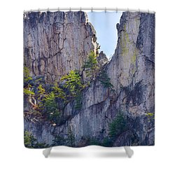Close-up Of Seneca Rocks Top Edge Shower Curtain