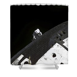 Close-up View Of The Nose Cone On Space Shower Curtain by Stocktrek Images