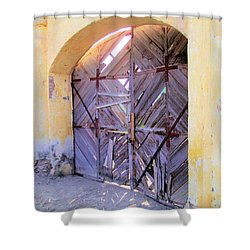 Closed, Permanently. Shower Curtain