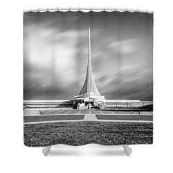 Shower Curtain featuring the photograph Closed Sails by Steven Santamour
