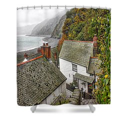 Shower Curtain featuring the photograph Clovelly Coastline by RKAB Works