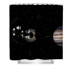 Closer Still Shower Curtain by David Robinson