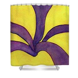 Closeup Of Yellow Rose Shower Curtain