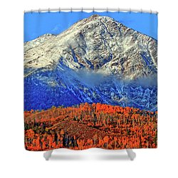 Shower Curtain featuring the photograph Closing In On Fall by Scott Mahon