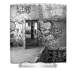 Clothcraft In Black And White Shower Curtain