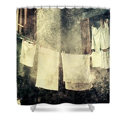 Clothes Hanging Shower Curtain