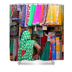 Clothing Shop In Madhavbaug, Mumbai Shower Curtain by Jennifer Mazzucco