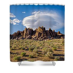 Cloud And Rocks Shower Curtain