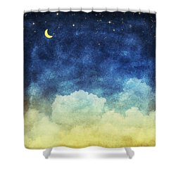 Cloud And Sky At Night Shower Curtain