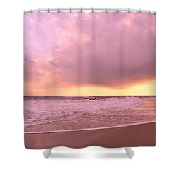 Shower Curtain featuring the photograph Cloud And Water by Karen Silvestri