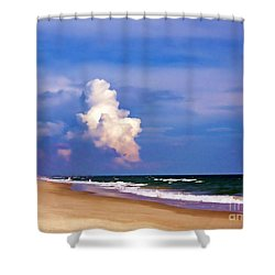 Shower Curtain featuring the photograph Cloud Approaching by Roberta Byram