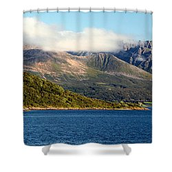 Cloud-capped Mountains Shower Curtain