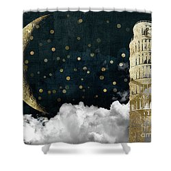 Cloud Cities Pisa Italy Shower Curtain