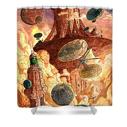 Cloud City Shower Curtain by Luis Peres