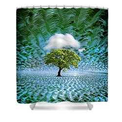 Cloud Cover Recurring Shower Curtain by Mal Bray