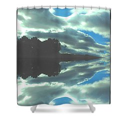 Cloud Drama Reflections Shower Curtain