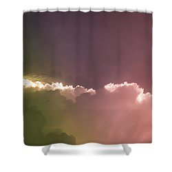 Cloud Eruption Shower Curtain