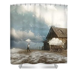 Cloud Farm Shower Curtain by Cynthia Decker