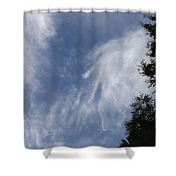 Cloud Fingers Shower Curtain by Don Koester