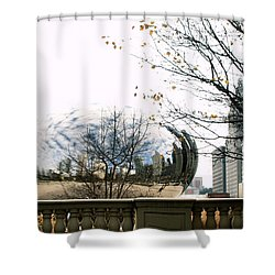 Cloud Gate - 1 Shower Curtain