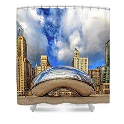 Cloud Gate @ Millenium Park Chicago Shower Curtain