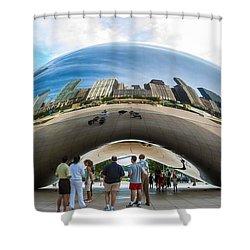 Cloud Gate Aka Chicago Bean Shower Curtain