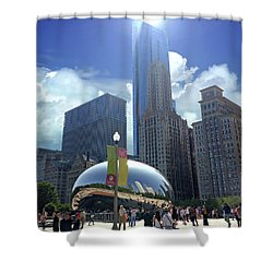 Cloud Gate In Chicago Shower Curtain