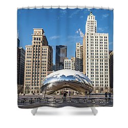 Cloud Gate To Chicago Shower Curtain
