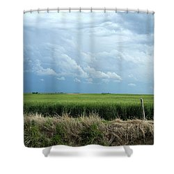 Cloud Gathering Shower Curtain